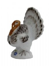 Meissen Porcelain Bird Figurine - Turkey